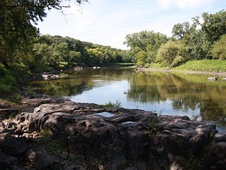 Riverside Station is nestled in the trees along the historic Big Sioux River!