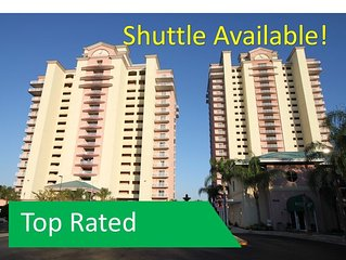 NEAR Disney, OUTSTANDING Views,  TWO Private Balconies! Shuttle Available