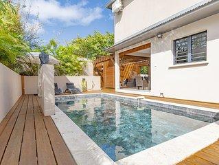 Villa Les Porcelaines, ⭐⭐⭐⭐ moderne et cosy à 5' du lagon Saline les Bains ☺