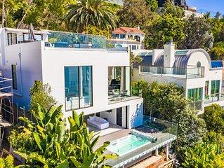 LUXE Palisades Villa with Breathtaking OCEAN VIEWS