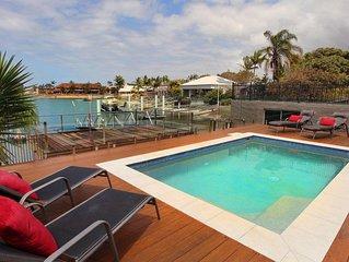 Tarcoola 49 - Waterfront 4 Bedroom House in Mooloolaba w/WIFI +Aircon+ BBQ+ Pool