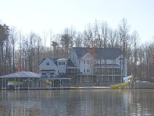 PRIVATE 650' Waterfront!  240 degree views, Boat rental, 8700 sq ft living space