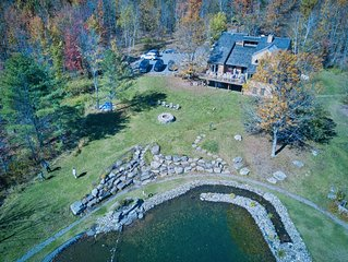 Luxury Mountain Retreat w/Amazing Views! Natural Swimming Pond, Amenity Packed!