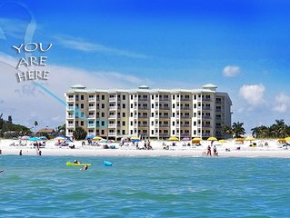 Stay 100% Beach Front!-2bed/2bath  unit- FREE WiFi,Heated Pool, FREE parking