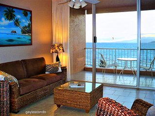 Oceanfront Gem,Top Floor, A/C, Remodeled, Free WiF, BBQ, Parking, Pool ,Elevator
