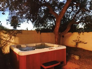Roomy Tucson Home w/ Private Hot Tub, Fire Pit, Grill, Free WiFi, & dogs ok!