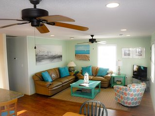 Oceanside! Bright & Beachy 3 Bedroom Hot Tub WIFI Dog Friendly Walk to Beach