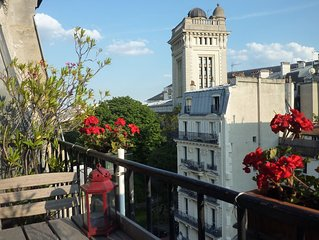 Notre Dame,tres bon standing, 6eme etage(ascenseur -> 5eme),balcon, wifi tres ha