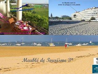 Vue Port et plage Arcachon Très bel appartement 3*Terrasse de12M2  WIFI 2 Vélos