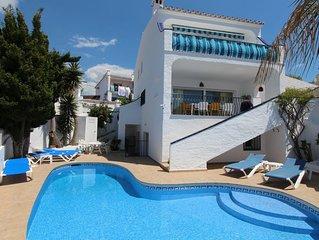 Nerja: Jolie maison individuelle avec piscine privée près de la plage, WIFI