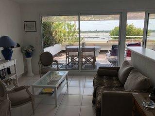 Prestigieux appartement   exposition sud sur une plage  d' Arcachon