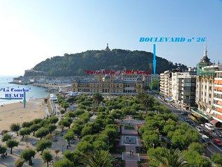Apartamento en el 26 del Boulevard: el mejor lugar para disfrutar San Sebastián
