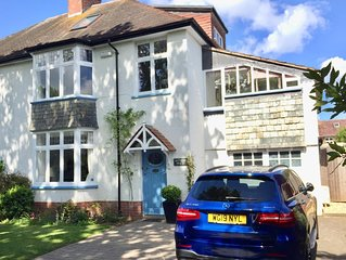 Stunning 4 bed house close Topsham centre, pvt parking, gardens, smart TVs, WiFi