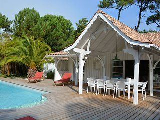Villa Cap Ferret avec piscine de plein pied 44 Hectares 5 Chambres