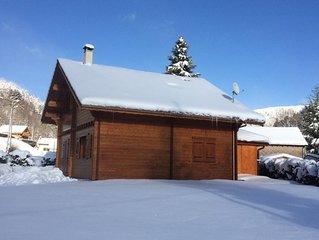 CHALET DE STANDING AVEC SAUNA & JACUZZI PRIVATIFS à 2min des pistes de ski