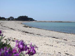Maison vue mer, spa (bain tourbillonnant), accès plage au bout du jardin!