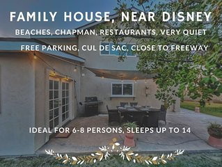 ❤️ NEW: Family House near Disney, Anaheim, Knot's Berry and Beaches