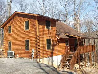 New Log Cabin Built in 2015 Located at the Base of Sleepy Creek Mountain