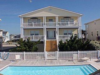 Oceanfront w/ heated pool by pier, Great fr Families. Open now for 2020!