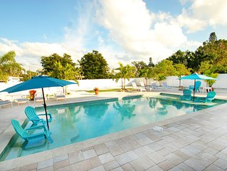 One of the LARGEST Saltwater heated/cooled pool and a resort like backyard!