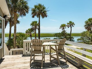 Gorgeous Secluded Island W/Creeks & Ocean Views w/DOCK!  Pet-friendly/Free Wi-Fi