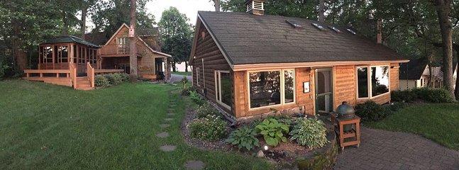 Main cabin, gazebo & guest house.