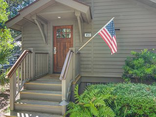 Family Retreat--Closest Oceanwoods Rental to Beach, Screened Porch, WiFi