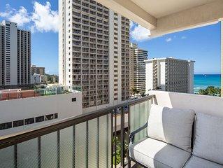 Ocean View from Lanais - Walk to Waikiki Beach - Free Parking