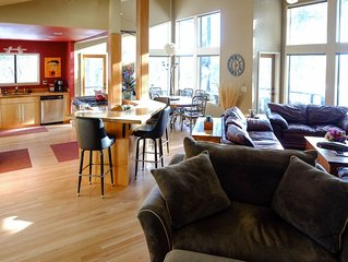 The Executive Lodge up in the West Hills and is 2 miles from downtown Bend.