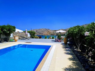 Luxury Villa with Stunning Unlimited Sea Views, close to Lindos