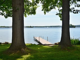 PRIVATE LAKEFRONT HOME -  1/2 acre, level, modern private home. 120' Lakefront