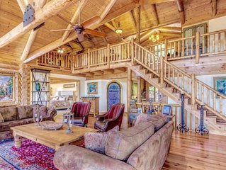 Custom built mountain lodge, with views of Amicalola and Appalachian mountains.