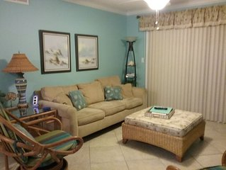 CLEAN and NEWLY Renovated!  Relaxed and Fun Decor.  2B/2B with W/D