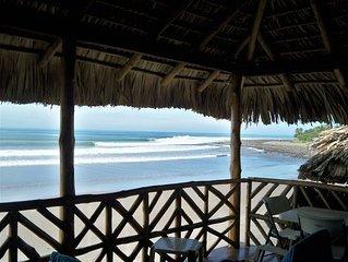 Epic Ocean Front Surf House in La Libertad, El Cocal Beach