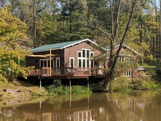Secluded 4 Bedroom, 2 Full Bath Waterfront Home Located On 82 Private Acres!