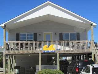 Quiet location, Beach access, Pet Friendly, Wifi, Wide beach, great for fishing!