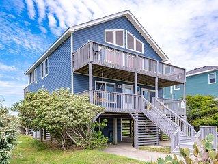 #1052 The Blue Heron. Pool, Hot Tub, Ocean Views, Close to Oregon Inlet