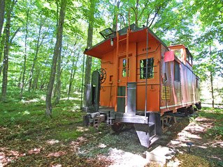 Historic, Restored Caboose at the Base of the Sleeping Bear Dunes! Acc: 2