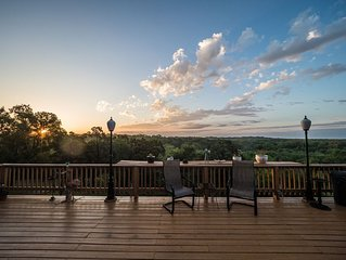 Experience a sunrise you never forget from the deck at the House on Cox Hill