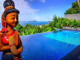 Villa Crystal, Panoramic Ocean Views, 1 Bed Villa With Large Salt Water Pool