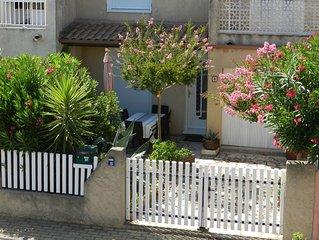 Location maison Valras Plage Hérault pour 6 personnes. Parking, internet