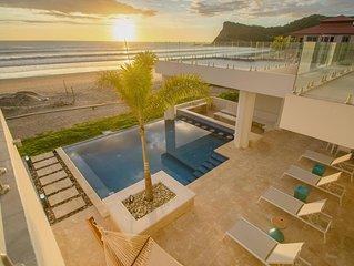 Deluxe Beachfront Home at Panga Drops Surf Break in Hacienda Iguana. Sleeps 10!