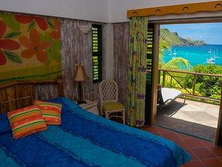 Stunning, Beachfront, Sunset Views, Turtle Point 4 bedroom villa
