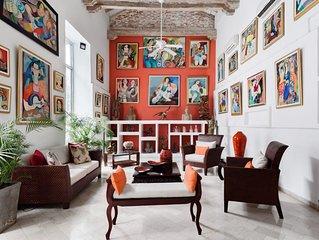 Exclusive Fancy Artistic Villa in Downtown Cartagena