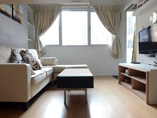 1 BR,5min walk to BTS 'On Nut' station,Free FAST WiFi,