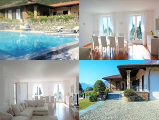 Lake Como, Villa The Olive Grove, beautiful property, pool and view on the lake