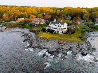 Brand new listing! Prestigious Oceanfront Estate on a Bluff in Cape Elizabeth!