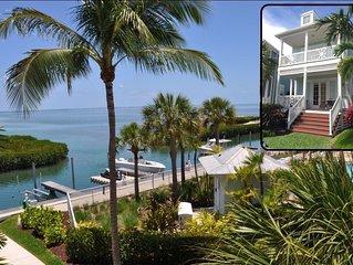 Islamorada Oceanfront Home In Anglers Reef Ocean Views, Dock, Comm Pool & Beach