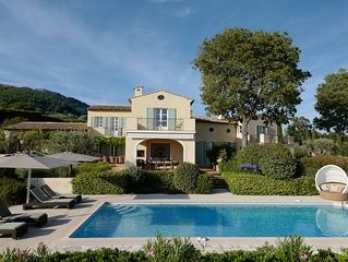 Distinguished south-facing Cote d'Azur architecture with prominent sea views