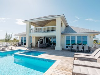 New Beachfront Villa with Pool with Incredible Sandy Beach